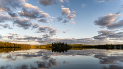 'One more, once' (Canadapt) Tags: sunset lake clouds reflection island shoreline calm evening keefer canadapt