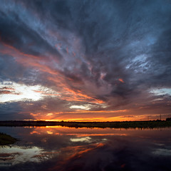 Another Central Florida Morning (Ed Rosack) Tags: olympus cloudscape nature dawn hires ©edrosack panorama florida cloud reflection landscape sky centralflorida sunrise usa stjohnsriver highres cloudy geneva