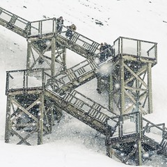 Stairway on snow (Lionelcolomb) Tags: winter square white outdoor fall snow stairway villedequébec québec canada ca