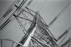 Power Tower (The Gadget Photographer) Tags: kodaktrix analogue ae1 london electricitypylons iso400 ilfrosol3 canon powerlines film tobyhetherington©2018 nazeing england unitedkingdom gb