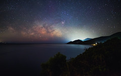 Milky Way Dream (free3yourmind) Tags: milky way dream night sky sea seascape seaside mountains hills greece peloponnese arkadia arcadia dark skies
