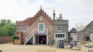 Entrance to Brownsea Island and the National Trust office, Poole Harbour, Poole, Dorset. England.