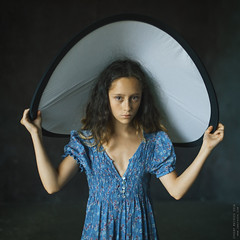 Darina. (matveev.photo) Tags: girl blue dress look face