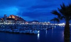 Noche azul (marian950) Tags: noche azul castillo st barbara puerto alicante
