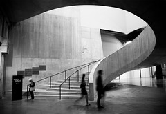 Generational Speed Increases - web (Dan Portch) Tags: tate modern london gallery art fine generational speed increases architecture building stairs interior concrete mono monochrome street photgraphy old woman young couple