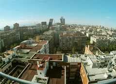 All my pasts and futures (F.Peces) Tags: building buildings city climbing sky risk roof rooftop skyline madrid spain plazacastilla danger day daytime hot photography