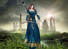 Mila Blauvelt (Mila Blauvelt) Tags: milablauvelt model avatar virtual virtualfashion movie inspired merida brave designers lamufashion lamu dressmesh dressfashion gown bow arrow bodymesh b