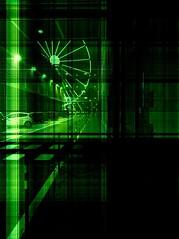 """Infrared"" (giannipaoloziliani) Tags: nikond3200 streetphotography night flickr notte portoanticodigenova portoantico nikonphotography nikoncamera nikon dark darkness genova genoa verde green liguria italy italia infrared infrarossi ruota wheel"