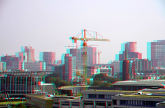 Rotterdam 3D (wim hoppenbrouwers) Tags: rotterdam3d rotterdam 3d anaglyph stereo redcyan erasmusmc view vergezicht depot boijmans