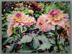 Dahlias and friends (boeckli (On Vacation)) Tags: dahlia flowers flower flora fleur textures texturen texture textur ddg topaz topazsimplify eyes bunt colourful colorful farbig kreative awardtree