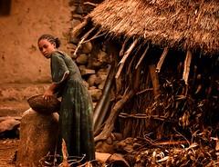 Tigray Woman (Rod Waddington) Tags: africa african afrique afrika äthiopien ethiopia ethiopian ethnic etiopia ethnicity ethiopie etiopian tigray woman village hut house outdoor building candid