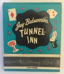JAY BEDWORTH'S TUNNEL INN LAFAYETTE CALIF (ussiwojima) Tags: jaybedworthstunnelinn jaybedworth tunnelinn bar cocktail lounge restaurant lafayette california advertising matchbook matchcover