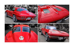 Corvette Sting Ray 63 split window (Tonino A) Tags: corvette sting ray rouge red rosso chevrolet voitures collection américaines