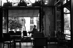 a quiet Sunday morning at Collectivo Coffee (humbletree) Tags: sundaymorning madison capitolsquare fujixe2 morninglight