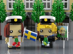 Swedish High School Graduation BrickHeadz (aukbricks) Tags: lego moc legomoc brickheadz swedish sweden student highschool gymnasium school graduation studenten studenten2018 graduationhat studentmössa whitedress suit studentskylt flag flowers computerrendering