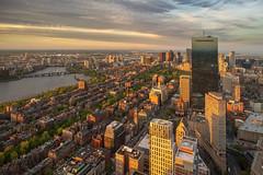 Boston back bay (djmeister) Tags: sunset backbay top boston prudentialtower charlesriver hub fenway johnhancocktower