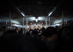 Pyongyang metro, North Korea (TeunJanssen) Tags: metro carriage pyongyang northkorea korea dprk ypt youngpioneertours f18 17mm 17mmf18 underground train busy kimilsung kimjongil leaders portraits asia travel traveling worldtravel backpacking olympus omd omdem10