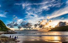 Sunset at Nai Harn beach           XOKA6731s-h (Phuketian.S) Tags: sunset beach island sea water people sky cloud hdr color beautiful nature landscape phuketian blue yellow gold phuket thailand sand ocean shore