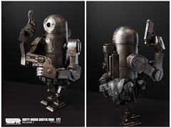 Dirty Deeds Bertie | Figure | ThreeA (leadin2) Tags: threea 3a figure 16 scale canon singapore toy toys world war robot wwr dirty deeds bertie mk2 release 2
