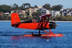 VH-KKD Grumman American Aviation G164 Ag-cat (johnedmond) Tags: perth swanriver westernaustralia grumman agcat vhkkd redbaronseaplanes seaplane floatplane g164 aviation australia aircraft aeroplane airplane plane sel55210 55210mm ilce3500 sony biplane