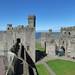 Caernarfon Castle - Black Tower - wall walk to the Chamberlain Tower