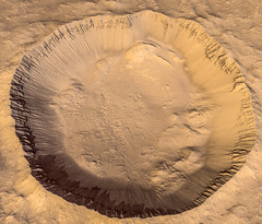 Crater in Terra Sirenum on Mars (Kevin M. Gill) Tags: mars crater hirise computergraphics cgi planetary science astronomy space