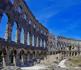 Pula: Roman Arena view to left