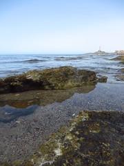 Cabo de Palos (Marta T.L.) Tags: cabo palos playa roca orilla faro mediterráneo lighthouse mediterranean sea mar beach rocks shore