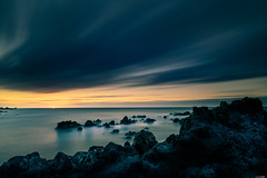 Almost gone (Rico the noob) Tags: 2018 rock d850 landscape sunset nature water outdoor stones clouds longexposure 20mm beach ocean published travel tenerife sun dof sky sea teneriffa coast rocks 20mmf18