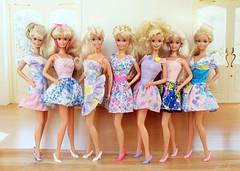 Perfume Pretty Barbie, Easter Fun, Rapunzel, Russel Stover, Pretty in Plaid, Winter Velvet, Bathtime Fun Barbie dolls (alenamorimo) Tags: barbie barbiedoll dolls vacation barbiecollector flowerdress dolllife