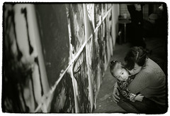 An opening reception (Tamakorox) Tags: exhibition drawing painter painting art artists tokyo japan japanese canonf1 kodak tmax400 film bw light shadow analoguecamera トキアートペース 東京 ilfordrc