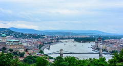 The view on top of the Citadel, Budapest, Hungary. The Danube river runs through the city dividing Buda (left) and Pest (right) (ttchao) Tags: nikon d810 2470mm budapest hungary citadel danube river danuberiver