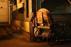 Gone Are The Good Old Days ! (N A Y E E M) Tags: rickshawwalla rickshaw night candid light availablelight atmosphere street mmaliroad chittagong bangladesh carwindow sooc