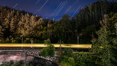 Black Forest Train - Baiersbronn, Germany - Travel photography (Giuseppe Milo (www.pixael.com)) Tags: baiersbronn night landscape nature stars outdoor blackforest travel forest train photo sky black gaermany europe geotagged photography badenwürttemberg germany de onsale