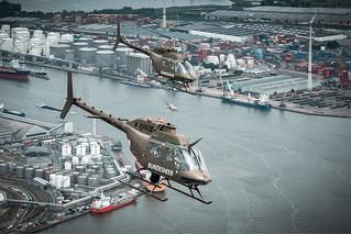 OH-58 über Antwerpen