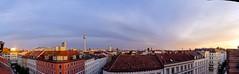 Panorama Berlin (Tobi Lehmann) Tags: panorama berlin fernsehturm mitte sunset golden sky rooftop clouds