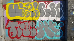 Ute, Rust, Troc & Asekm... (colourourcity) Tags: streetart streetarnow graffiti melbourne streetartmelbourne streetartaustralia awesome colourourcity nofilters burncity original hobby bored walking ute tabloid troc trock tee ask askem throws throwies fly flies sdm adn mdr datm rust 86 fw