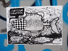 Pasted paper by Saveur Graffik [Lyon, France] (biphop) Tags: europe france lyon streetart wheatpaste wheatpaper collage pasted paper pasteup saveur graffik