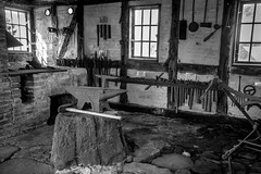 The smithy (hanschristian_nielsen) Tags: smithy tool window room workshop iron wood halftimbering fejø denmark incus hammer maul clubhammer forge cobblestone