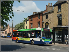 36218, Church Street (Jason 87030) Tags: e200 enviro green 4 four rugby warks warwickshire stagecoach midlands bus route service 36218 kx60ljc hyde shops street roadside uk england sony ilce all everything wheels transport