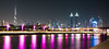 Dubaï Skyline (\Nicolas/) Tags: dubai dubaï canal tolerance skyline night burj khalifa mariott marquis united arab emirates skyscrapper tower peaceful