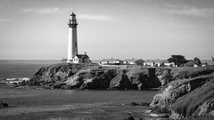 Dec. Pigeon Point 03 B&W (CDay DaytimeStudios w/1,000,000 views) Tags: ca california coastline highway1 landscape lighthouse ocean pacificcoast pigeonpointca rocks seascape