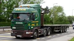 PK11 YSR (Martin's Online Photography) Tags: exeddiestobart scania r440 truck wagon lorry vehicle freight haulage commercial transport a580 leigh nikon nikond7200 flatbed