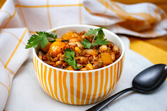 Chili con Carne mit Rinderhackfleisch (marcoverch) Tags: kidney food cooked pepper beef meal chili cuisine meat mexican chiliconcarne rinderhackfleisch