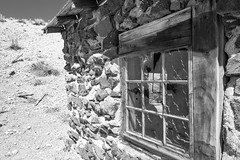 Delmues Ranch (joeqc) Tags: nv nevada lincolncounty lincoln county ranch black bw blancoynegro blackandwhite white greytones monochrome mono cabin delmues fuji xe3 xf1024f4r