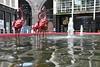 Fountain at Custard Factory (Manoo Mistry) Tags: nikon nikond5500 tamron tamron18270mmzoomlens birmingham birminghampostandmail englanduk westmidlands custardfactory fountain reflection water