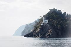 Lighthouse - Porto Fino, Italy (Sebastian Bayer) Tags: haus klippe farodiportofino tiefe drausen meer ligurien idylle wasser leuchtturm berge italien portofino märchenhaft natur ebenen