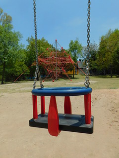 Swing and playground, Chapultepec Park.