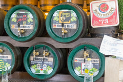 Barrels with different types of beer (marcoverch) Tags: 2018 germany deutschland barcamp koblenz rheinlandpfalz de bcko18 barrels types beer barrel fass bier noperson keineperson drink getränk container keg stock gasoline benzin wine wein industry industrie alcohol alkohol wood holz retro indoors drinnen old alt brewery brauerei bottle flasche merchandise waren petroleum vintage jahrgang india airport june brown outside bnw nikkor colours candy design