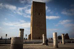 Hassan Tower, Rabat (Adrià Páez) Tags: hassan tower rabat city capital morocco maroc maghreb north africa mosque minaret ruins old columns muslim architecture sky clouds man walking canon eos 7d mark ii